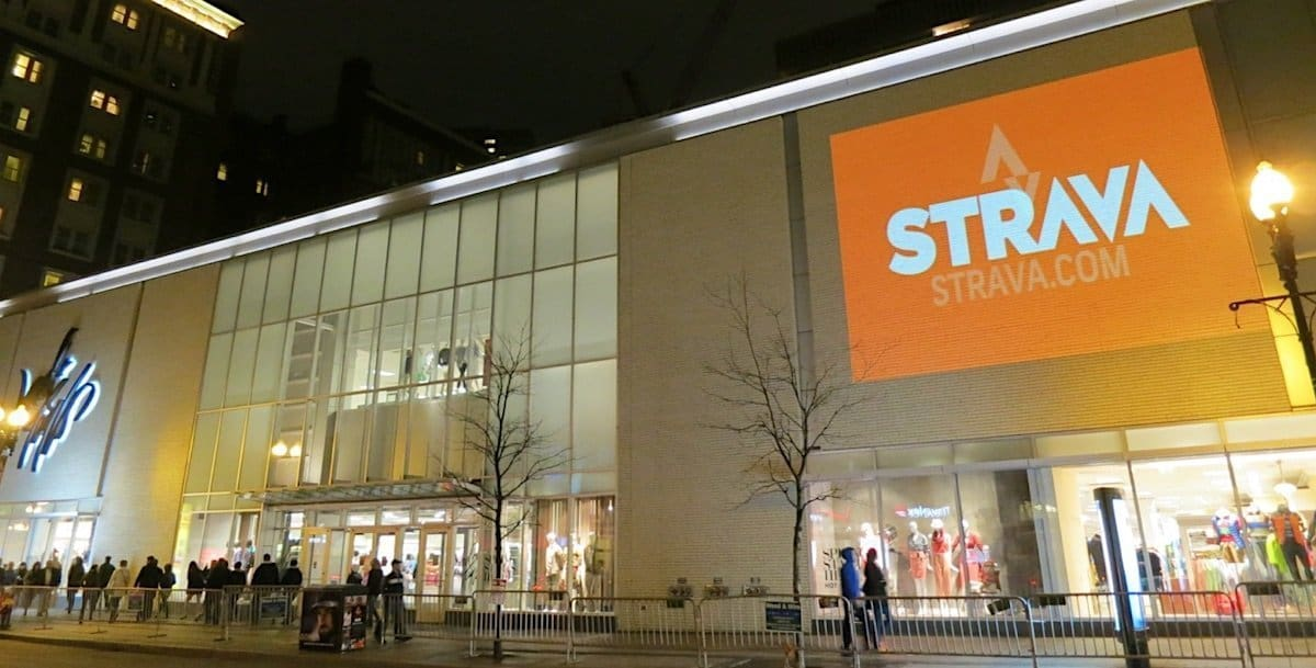 Strava Guerilla Video Projection Advertising - Back Bay, Boston