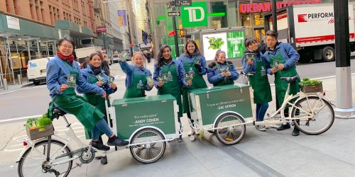 Street Product Sampling Experiential Marketing Team Example - Broadway, NYC