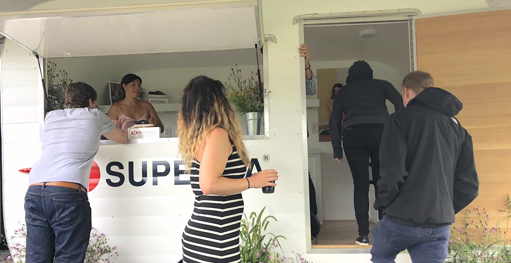Superga Popup Shop Camper + Embroidery Popup Shop - Hamptons, New York