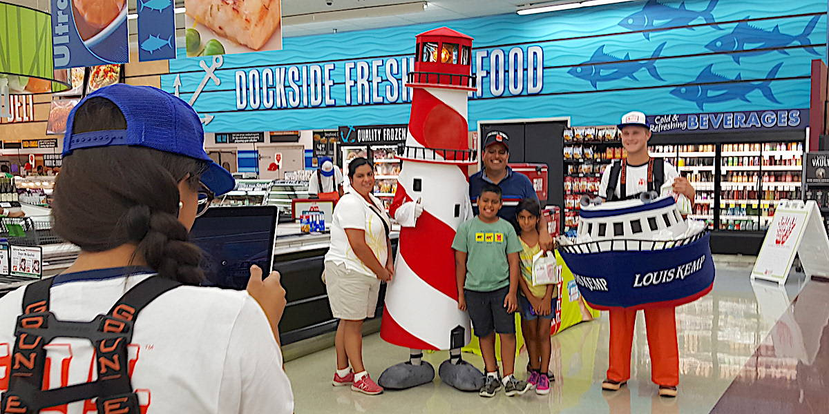 Trident Seafoods Louis Kemp Supermarket Product Sampling Activation Example - Chicago