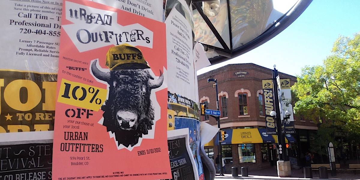 Urban Outfitters College Marketing Poster Advertising - Boulder, Denver