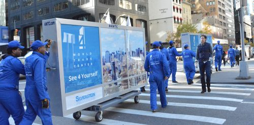 WTC Commercial Office Space Guerrilla Marketing Mobile Billboard - Midtown, New York City