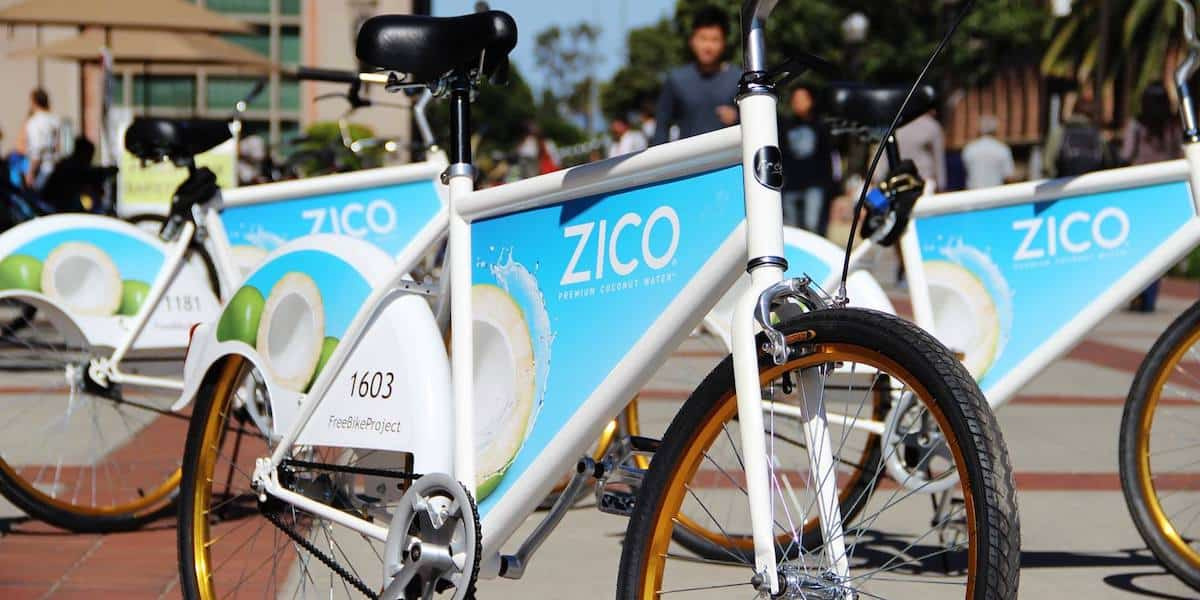 Zico Coconut Water Bike Billboard Advertising - Santa Monica, Los Angeles