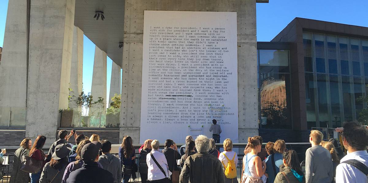 Zoe Leonard Artist Wheatpaste Wall Installation - The High Line, New York City